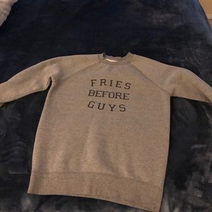 Fries Before Guys crew neck - Brunette the label